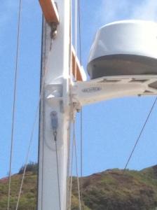 Shroud attach point in new radar bracket.